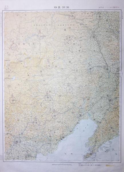 満洲其4 100万分1航空図