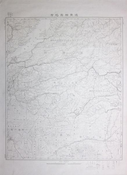後貝加爾地方 百万分一輿地図