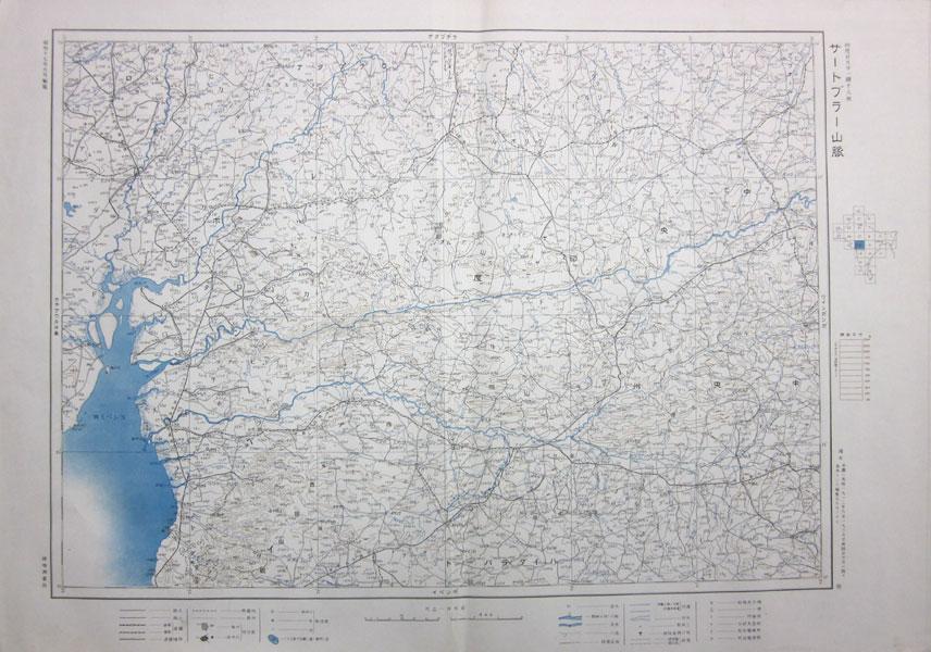 サートブラー山脈 印度100万分1図18号