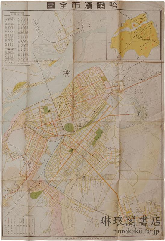 哈爾濱市全図